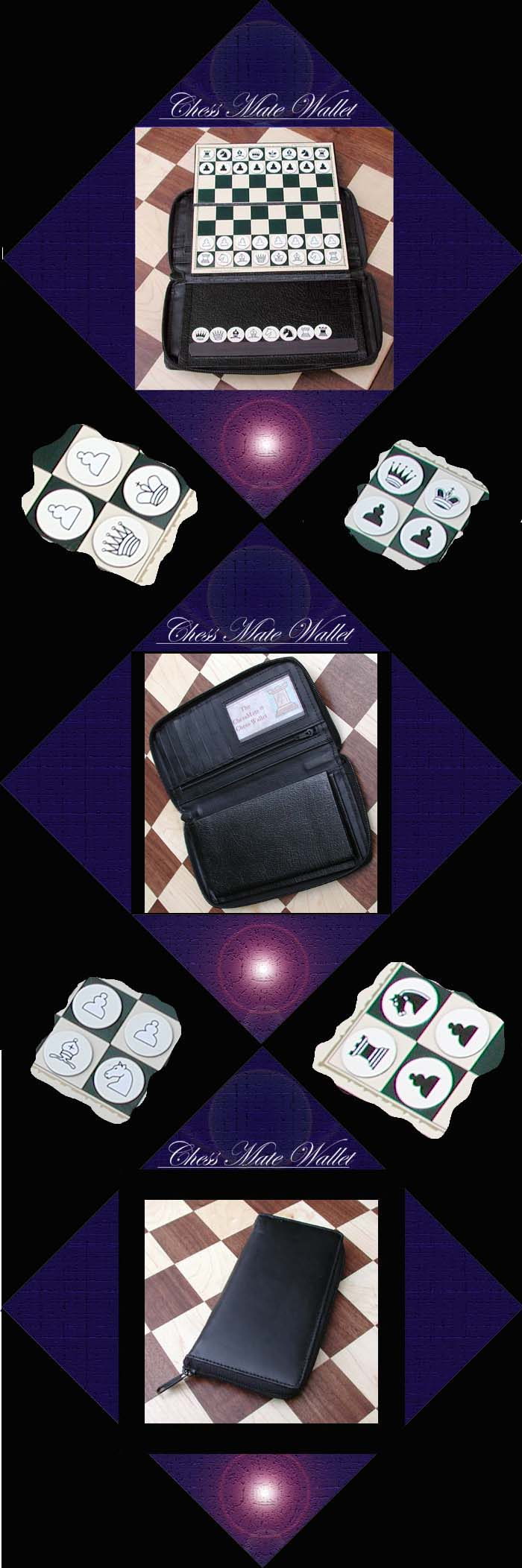 Chess Mate Wallet Tri Fold Magnetic Set